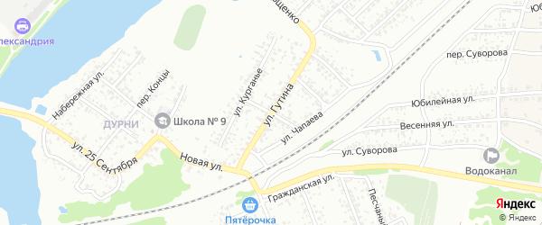 Переулок Чкалова на карте Клинцов с номерами домов