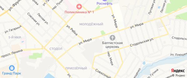 Территория N 104А ПГК Текмаш-3 на карте улицы Мира с номерами домов
