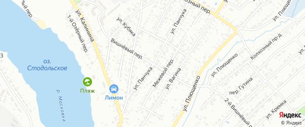 Вишневый переулок на карте Клинцов с номерами домов