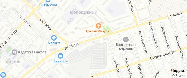 Улица Мира на карте Клинцов с номерами домов