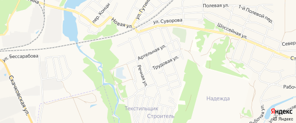 Нсдт Строитель на карте Народной улицы с номерами домов