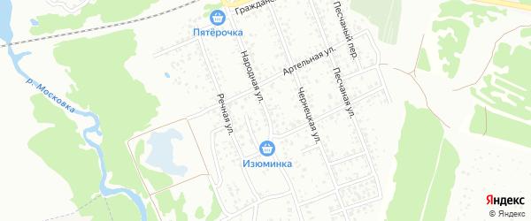 Абонентский ящик 2-я Садовая на карте СНТ Текстильщика с номерами домов