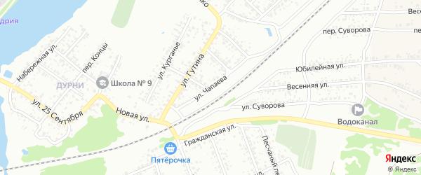 Улица Чапаева на карте Клинцов с номерами домов