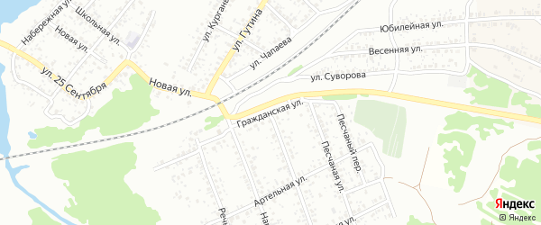 Гражданская улица на карте Клинцов с номерами домов