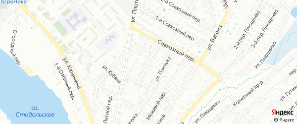 Солнечный переулок на карте Клинцов с номерами домов