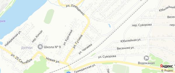 Переулок Чапаева на карте Клинцов с номерами домов