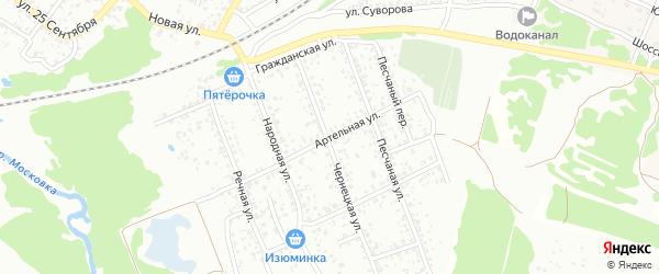 Артельная улица на карте Клинцов с номерами домов