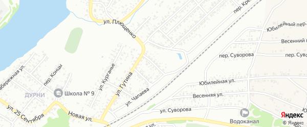 Улица Черняховского на карте Клинцов с номерами домов