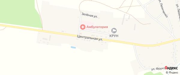 Центральная улица на карте села Влазовичей с номерами домов