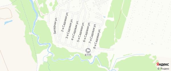 6-я Садовая улица на карте Нсдт Строителя с номерами домов