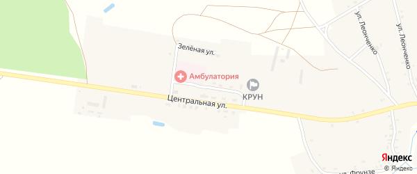 Центральный переулок на карте села Влазовичей с номерами домов