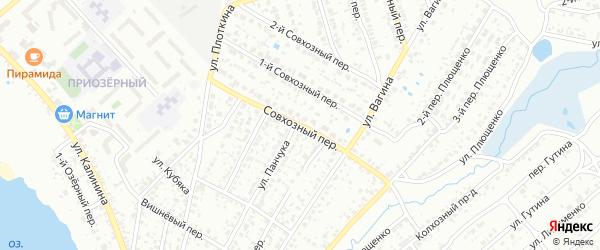 Совхозный переулок на карте Клинцов с номерами домов