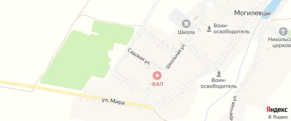 Садовая улица на карте села Могилевцы с номерами домов