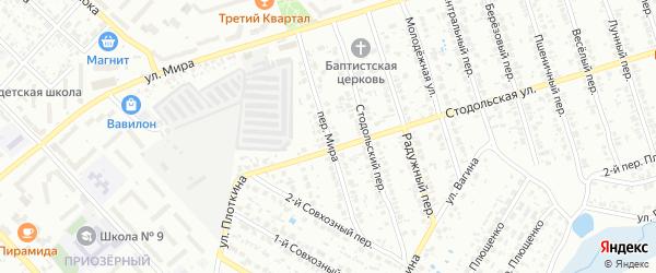 Переулок Мира на карте Клинцов с номерами домов