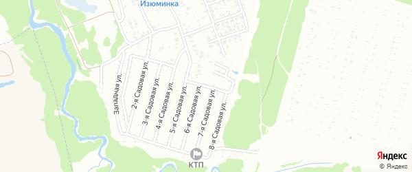 1-я Северная улица на карте Нсдт Строителя с номерами домов
