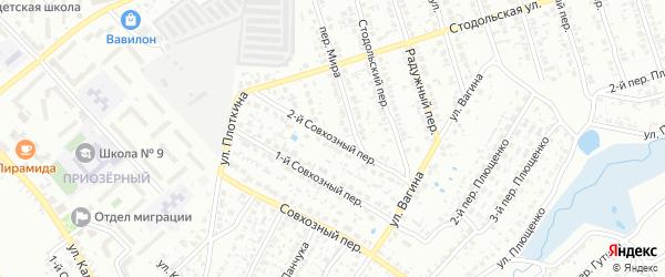 2-й Совхозный переулок на карте Клинцов с номерами домов