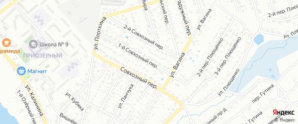 1-й Совхозный переулок на карте Клинцов с номерами домов