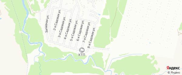 8-я Садовая улица на карте Нсдт Строителя с номерами домов