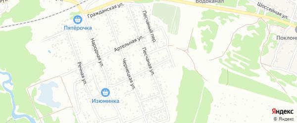 Песчаная улица на карте Клинцов с номерами домов