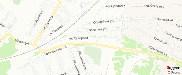 Улица Суворова на карте Клинцов с номерами домов