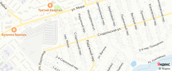 Радужный переулок на карте Клинцов с номерами домов