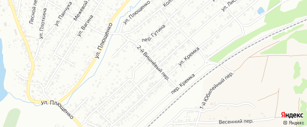 2-й Вишневый переулок на карте Клинцов с номерами домов