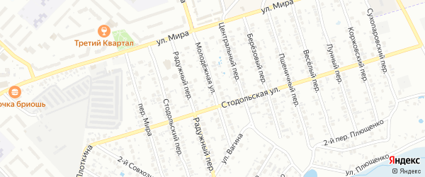 Молодежная улица на карте Клинцов с номерами домов
