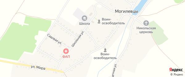 Улица Бегунова на карте села Могилевцы с номерами домов