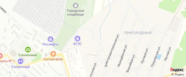 Солнечная улица на карте села Коржовки-Голубовки с номерами домов