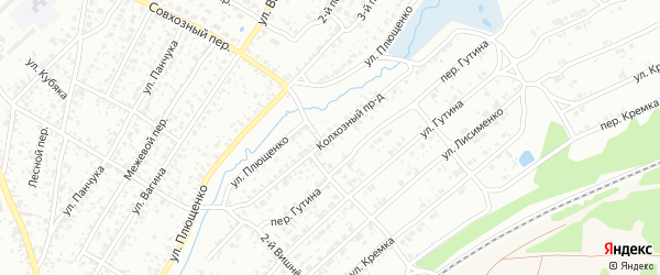 Колхозный проезд на карте Клинцов с номерами домов