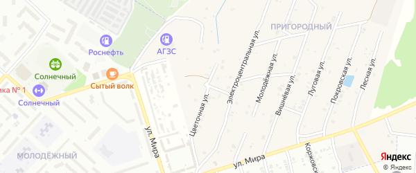 Цветочная улица на карте села Коржовки-Голубовки с номерами домов