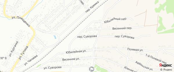 Переулок Суворова на карте Клинцов с номерами домов