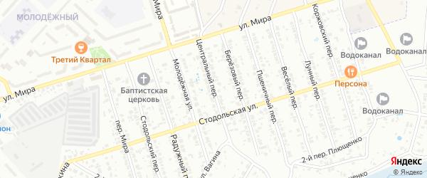 Центральный переулок на карте Клинцов с номерами домов