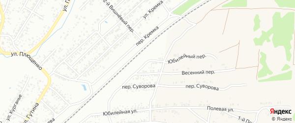 Юбилейный переулок на карте Клинцов с номерами домов