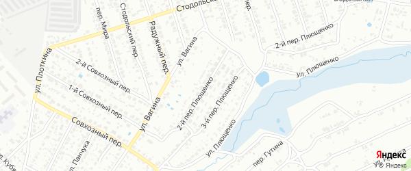 Переулок 2-й Плющенко на карте Клинцов с номерами домов