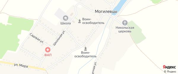Улица Мира на карте села Могилевцы с номерами домов