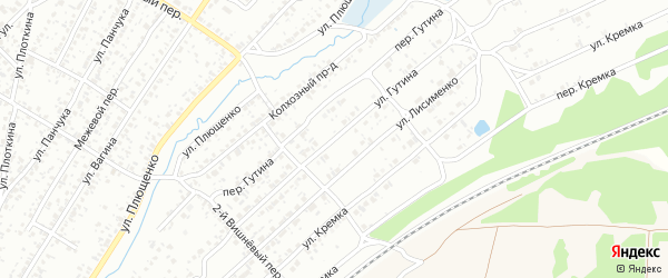 Улица Гутина на карте Клинцов с номерами домов