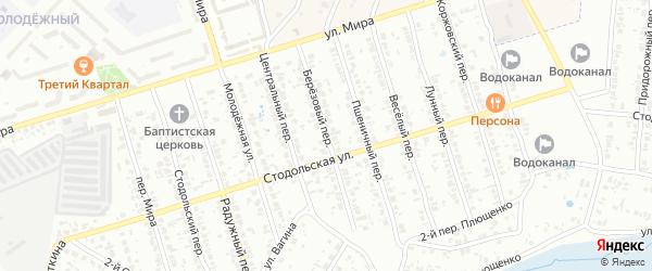 Березовый переулок на карте Клинцов с номерами домов