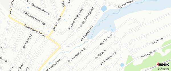 Улица Плющенко на карте Клинцов с номерами домов