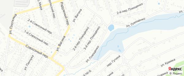 Переулок 3-й Плющенко на карте Клинцов с номерами домов