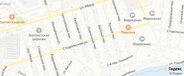 Пшеничный переулок на карте Клинцов с номерами домов