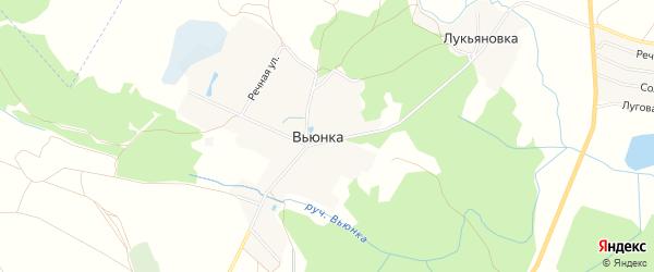 Карта деревни Вьюнки в Брянской области с улицами и номерами домов