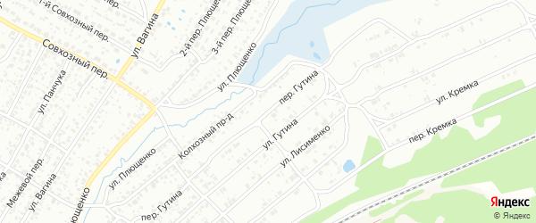 Переулок Гутина на карте Клинцов с номерами домов
