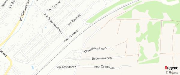 Юбилейный переулок на карте села Ардонь с номерами домов