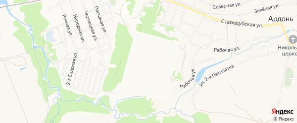 Снт Надежда при ОАО КАЗ на карте села Ардонь с номерами домов
