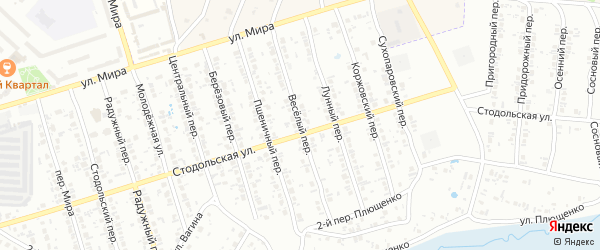 Веселый переулок на карте Клинцов с номерами домов
