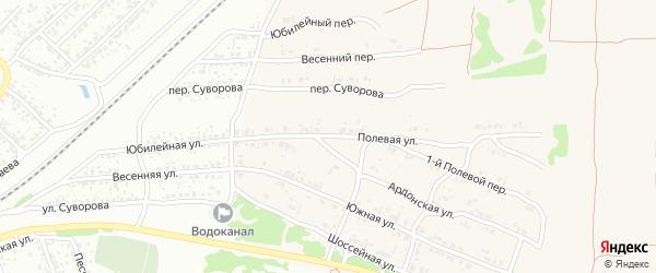 Полевая улица на карте Клинцов с номерами домов