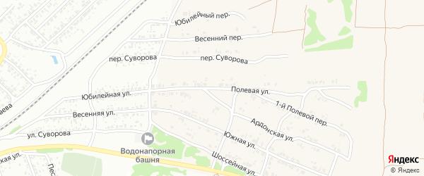 Полевая улица на карте села Ардонь с номерами домов