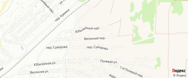 Весенний переулок на карте села Ардонь с номерами домов