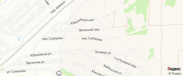 Переулок Суворова на карте села Ардонь с номерами домов